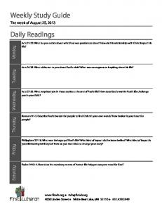 2013-08-25 Study Guide