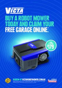 buy a robot mower today and claim your free garage online