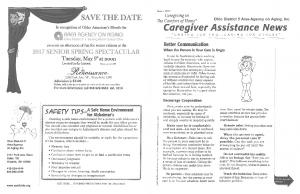 Caregiver Assistance News - March 2017 - Login - Ohio Area Agency