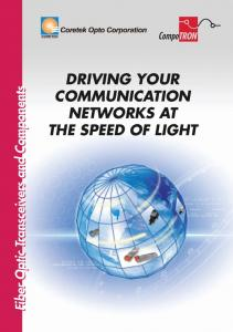 driving your communication networks at the speed of light