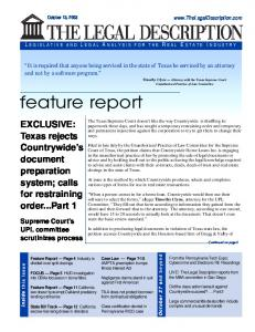 feature report
