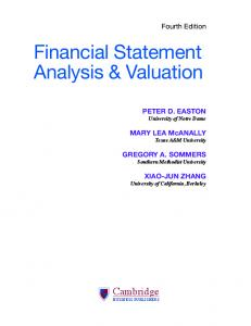 Financial Statement Analysis & Valuation