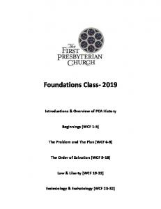 Foundations Class- 2019