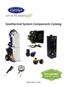 Geothermal System Components Catalog