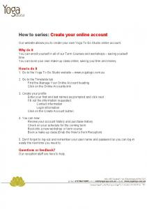How to series: Create your online account