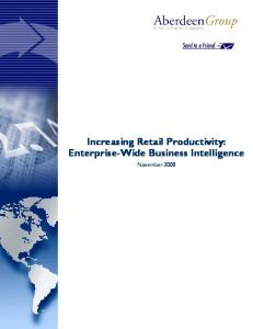 Increasing Retail Productivity
