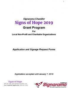 Signs of Hope 2019