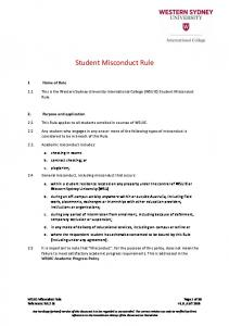 Student Misconduct Rule