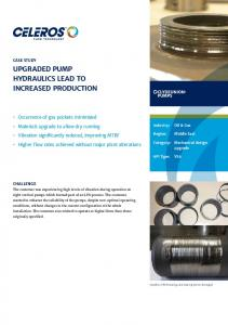 upgraded pump hydraulics lead to increased production