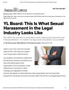 YL oard: This Is What exual Harassment in the Legal